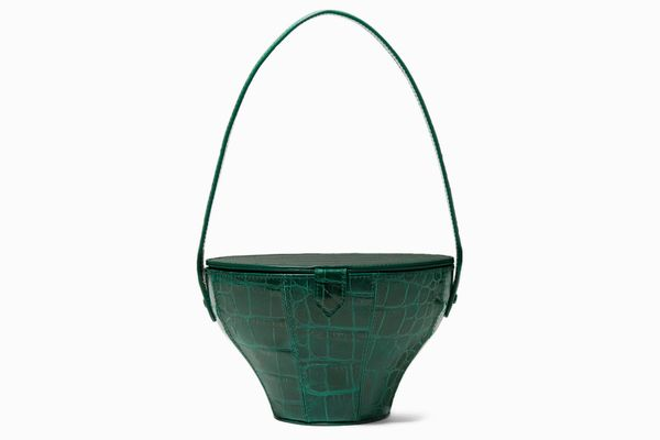Staud Alice Croc-effect Leather Tote