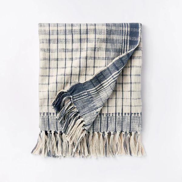 Woven Cotton Plaid Throw Blanket Threshold™ designed with Studio McGee