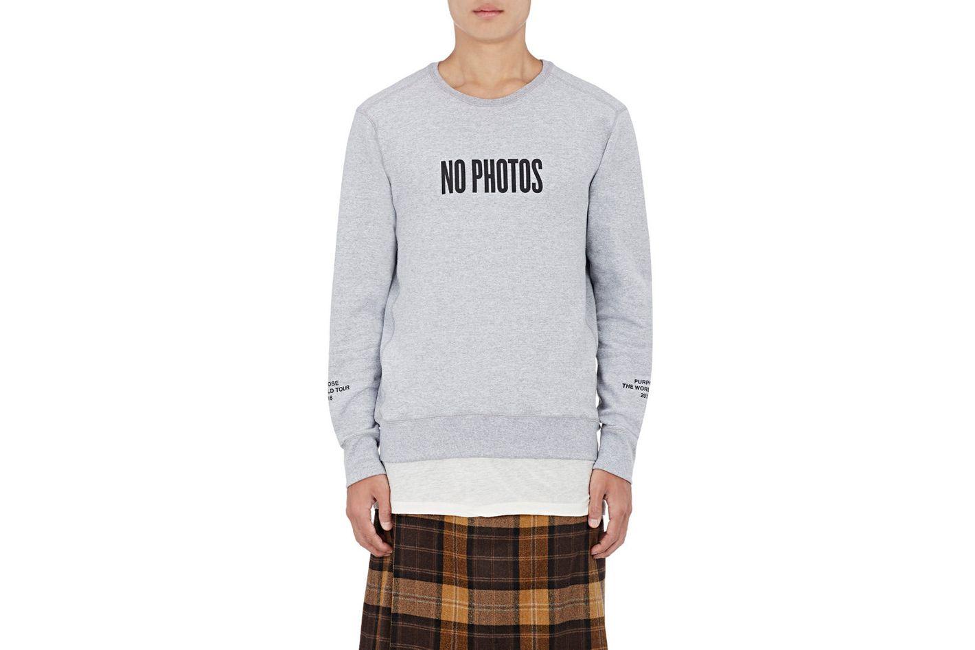 "Purpose Tour XO Barneys New York ""No Photos"" Sweatshirt"