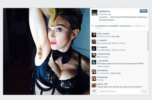 Madonna 16 Amazing Women With Armpit Hair The Cut