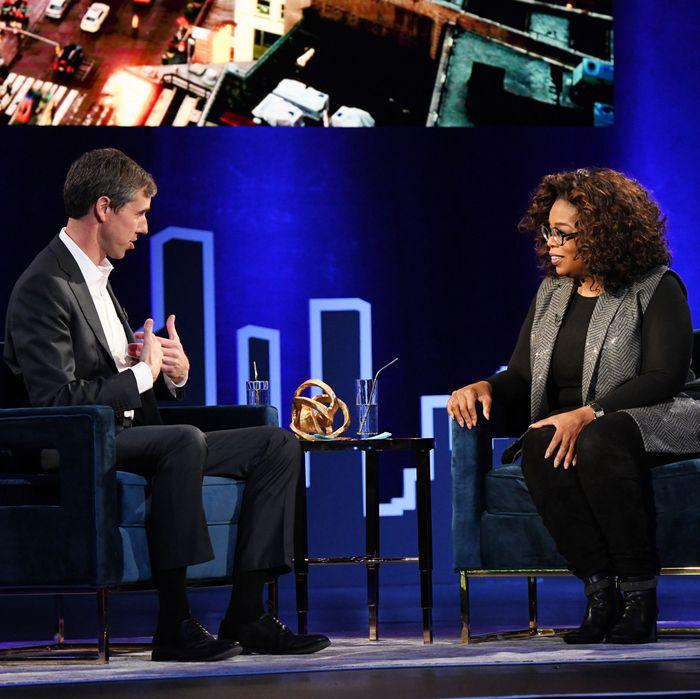 Beto O'Rourke and Oprah Winfrey.