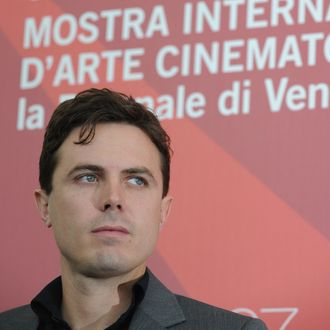 US actor Casey Affleck poses during the photocall of