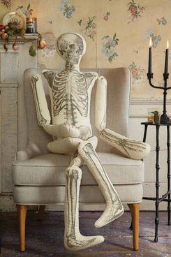John Derian for Threshold Long Lost Friend Skeleton Shaped Throw Pillow