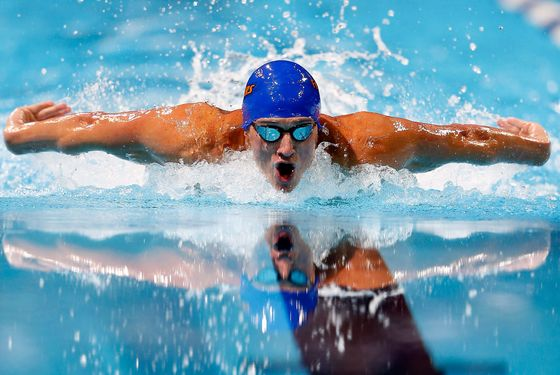 OMAHA, NE - JUNE 30:  Ryan Lochte competes in the first semifinal heat of the Men's 100 m Butterfly during Day Six of the 2012 U.S. Olympic Swimming Team Trials at CenturyLink Center on June 30, 2012 in Omaha, Nebraska.  (Photo by Jamie Squire/Getty Images)