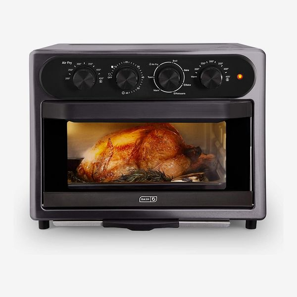Dash Chef Series 7 in 1 Convection Toaster Oven Cooker, Rotisserie + Electric Air Fryer