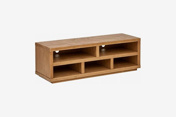 Rivet Eastport Modern Industrial Entertainment Console, 59 Inches Wide
