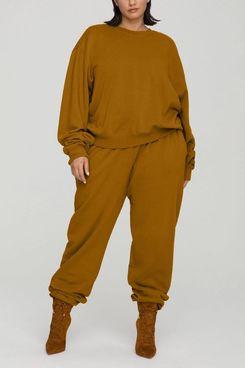 Good American Boyfriend Sweatpants (Bronze Brown)