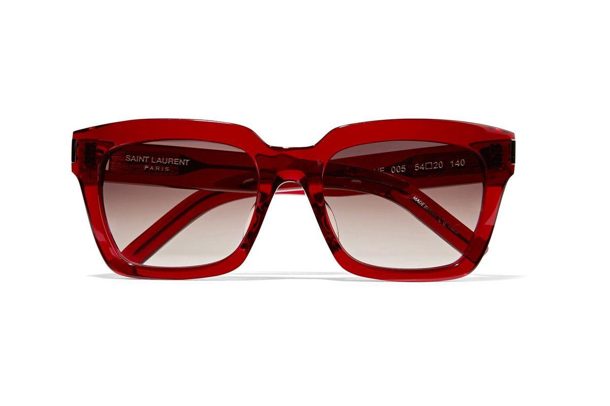 Saint Laurent Bold 1/f square-frame acetate sunglasses