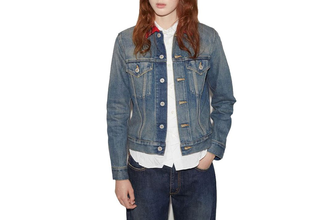 Junya Watanabe Check Collar Denim Jacket