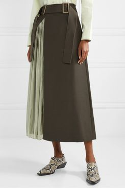 Rejina Pyo Pleated Satin Skirt