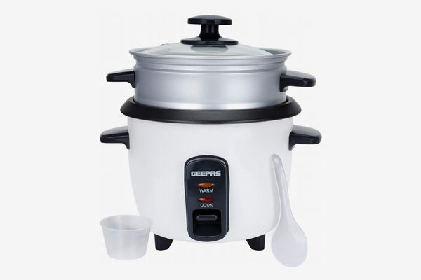 Geepas Rice Cooker with Steamer, 0.6L