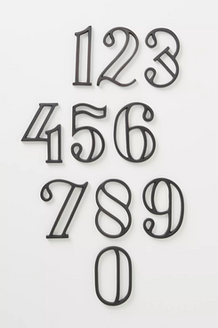 Anthropologie Home Camille House Numbers (Black)