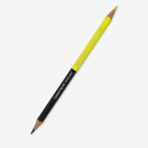 Caran d' Ache Graphicolor BiColor Pencil (Fluorescent Yellow/Graphite)