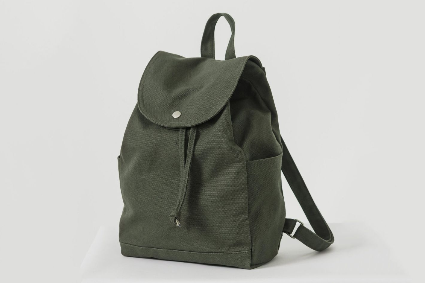 Baggu Drawstring Backpack, Dark Olive
