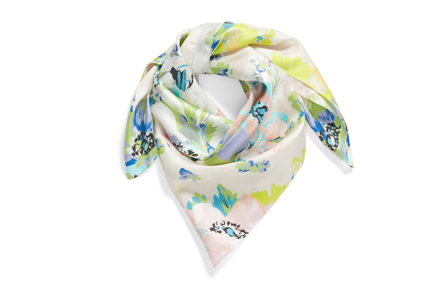 Echo Floral Silk Square Scarf