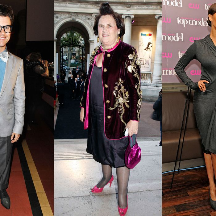 Brad Goreski, Suzy Menkes, and Tyra Banks.