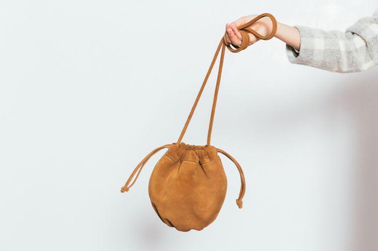 Ceri Hoover Camel Phoebe Bucket Bag