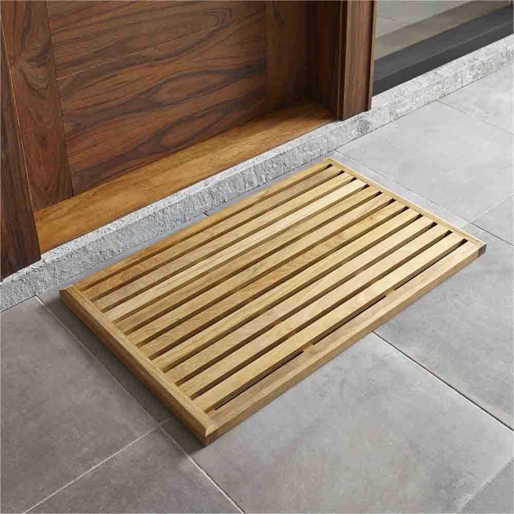Crate and Barrel Teak Mat