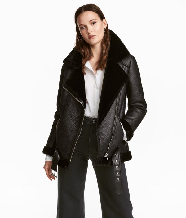 H&M Oversized Biker Jacket