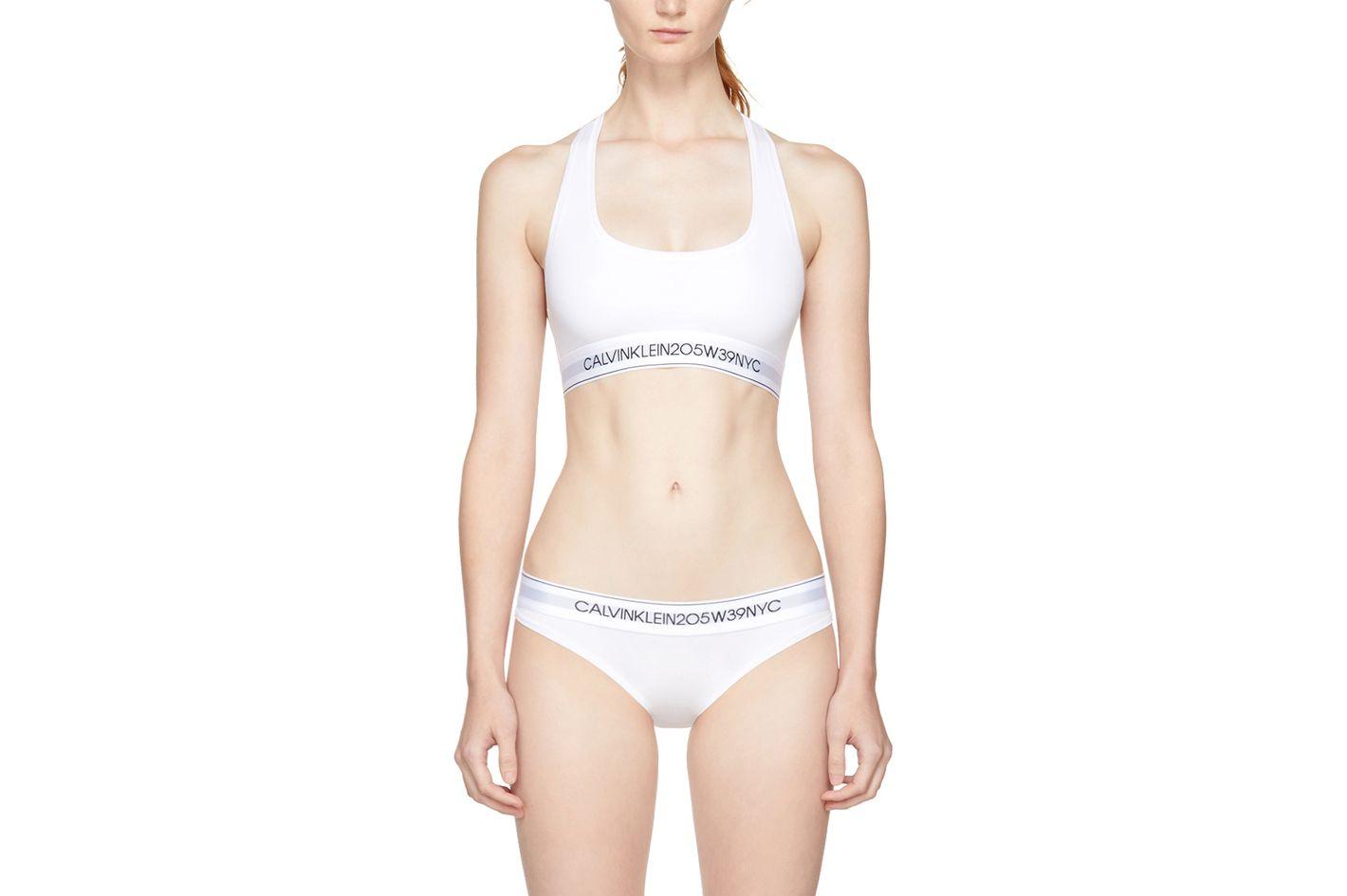 Calvin Klein 205W39NYC White Logo Bralette