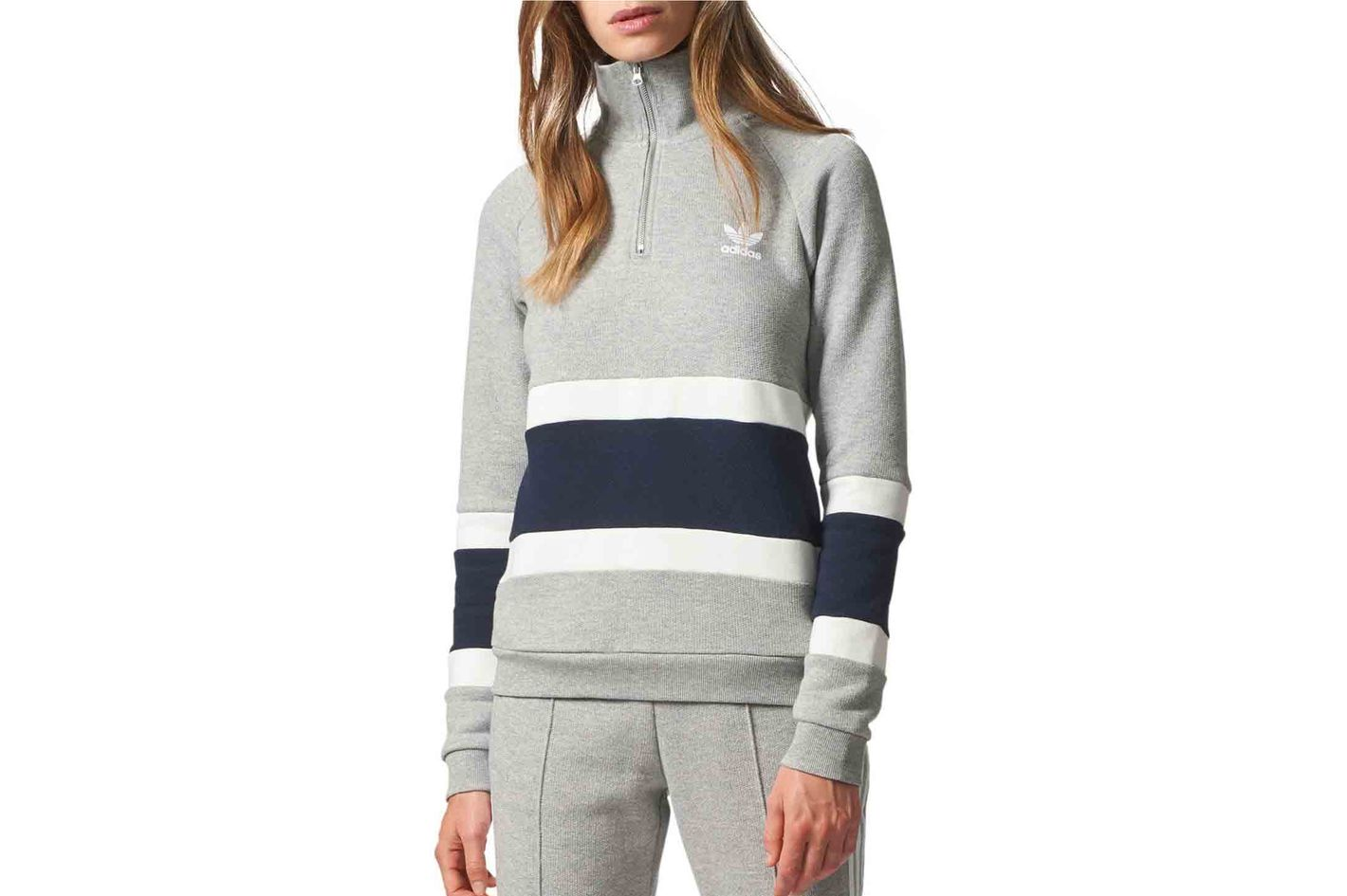 Adidas Half-Zip Cotton Sweater