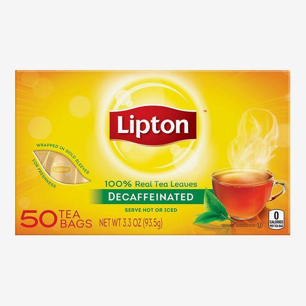 Lipton Black Tea Bags, Decaf, 50-count pack of 12