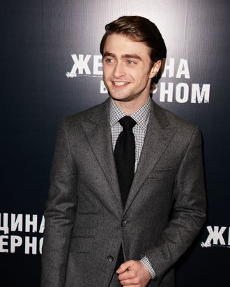 MOSCOW, RUSSIA - FEBRUARY 15: Actor Daniel Radcliffe attends the premiere of Woman in Black in Oktyabr Cinema on February 15, 2012 in Moscow, Russia. (Photo by Oleg Nikishin/Epsilon/Getty Images)