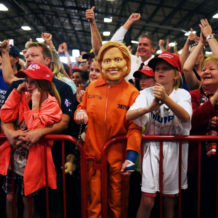 9fc57516be820 The MAGA people can t let go of their obsessive hatred of Hillary Clinton.  Photo  RJ Sangosti Denver Post via Getty Images