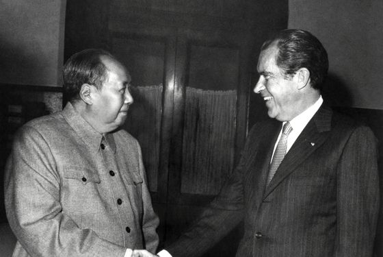 The pair who're shaking hands