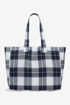 Junya Watanabe Check Linen & Cotton Tote