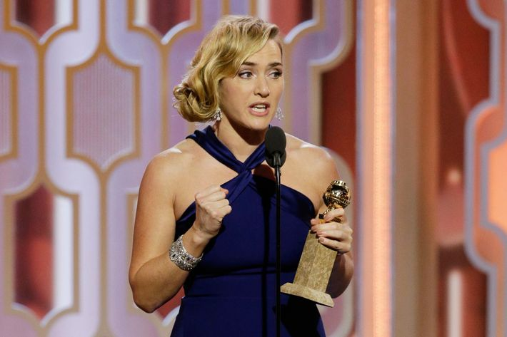 Winslet was the first win of the night.