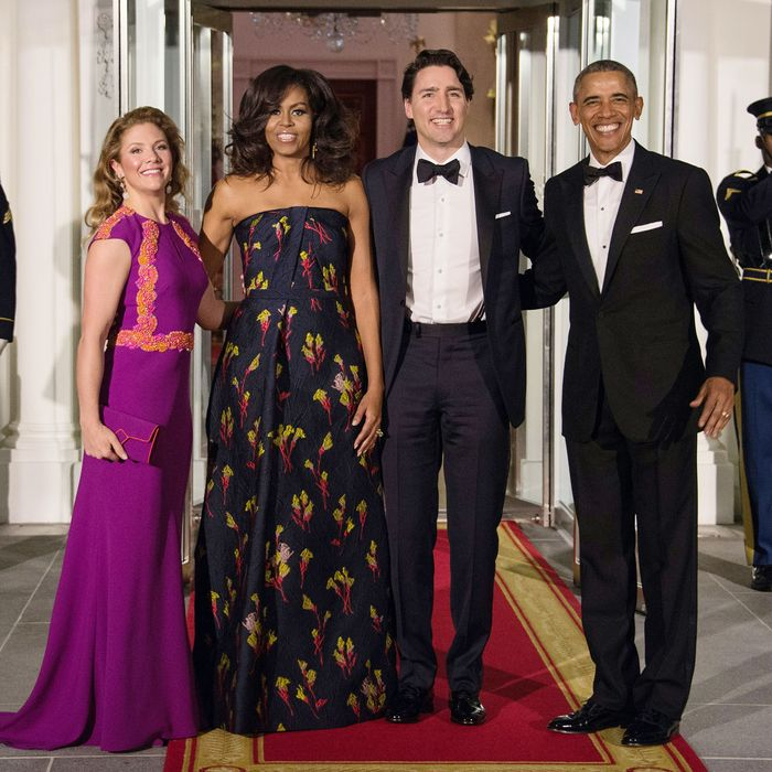 The Obamas and Trudeaus sure clean up, eh?