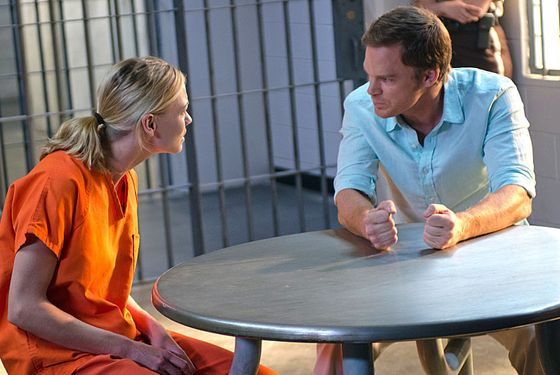 Yvonne Strahovski as Hannah McKay and Michael C. Hall as Dexter Morgan (Season 7, episode 12)