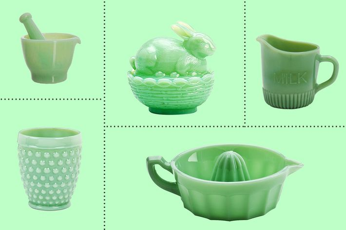 Following its resurgence in the late u002790s the opaque milky jadeite glass that was popular in the u002740s and u002750s for kitchenware and food storage is still an ...  sc 1 st  NYMag & 15 Jadeite Things You Can Find on Amazon 2018