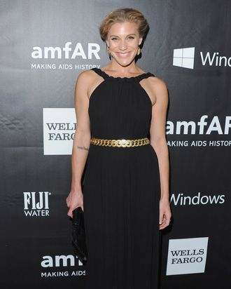 HOLLYWOOD, CA - OCTOBER 29: Actress Katee Sackhoff arrives at the 2014 amfAR LA Inspiration Gala at Milk Studios on October 29, 2014 in Hollywood, California. (Photo by Jon Kopaloff/FilmMagic)