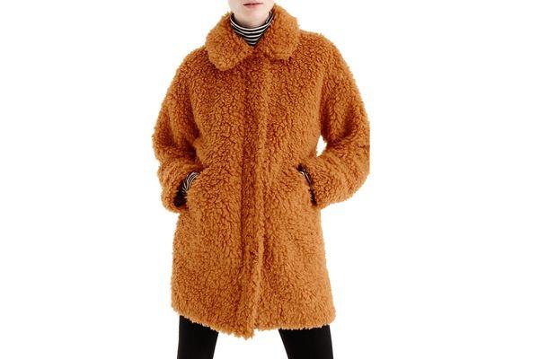 J. Crew Textured Teddy Coat