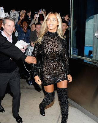 Entertainer Beyonce attends a release party and screening for her new self-titled album