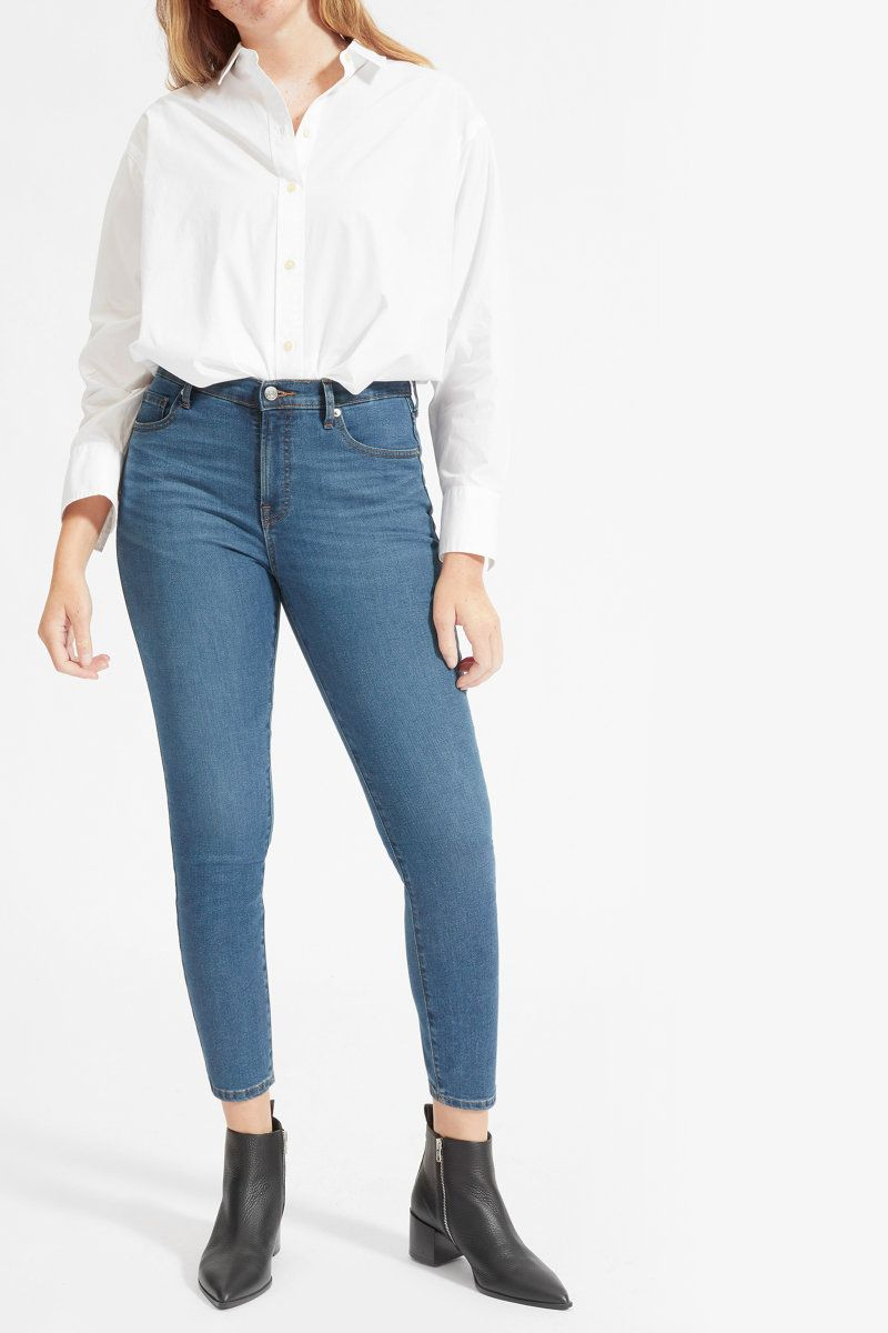 Everlane Authentic Stretch Mid-Rise Skinny Ankle Jean