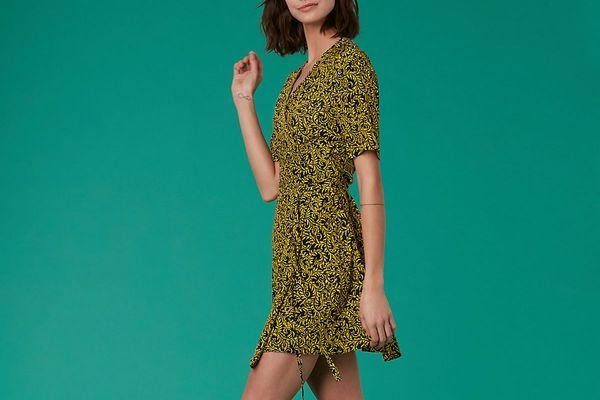 Diane von Furstenberg New Savilla Woven Wrap Dress