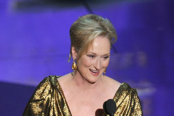 HOLLYWOOD, CA - FEBRUARY 26:  Actress Meryl Streep accepts the Best Actress Award for 'The Iron Lady' onstage during the 84th Annual Academy Awards held at the Hollywood & Highland Center on February 26, 2012 in Hollywood, California.  (Photo by Kevin Winter/Getty Images)