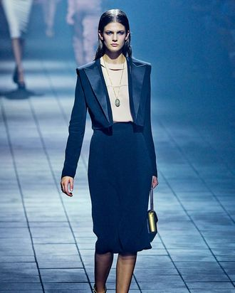 Kendra on Lanvin's spring 2012 runway.