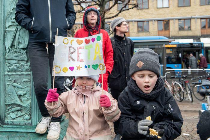 Climate strikers in Gothenburg, Sweden.