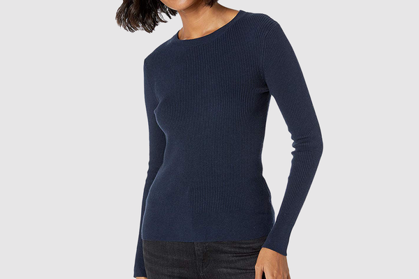 The Drop Women's Amber Fitted Ribbed Crew Neck Sweater
