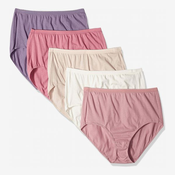 Just My Size Women's Plus 5-Pack Cotton High Brief