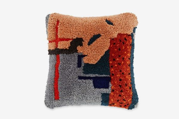 Limited Edition Abstract Wool-Blend Throw Cushion