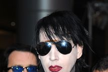 LOS ANGELES, CA - APRIL 11:  Muscian Marilyn Manson arrives at the 2012 Revolver Golden Gods Award Show at Club Nokia
