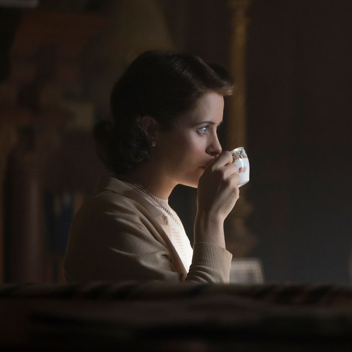 Claire Foy as Elizabeth.