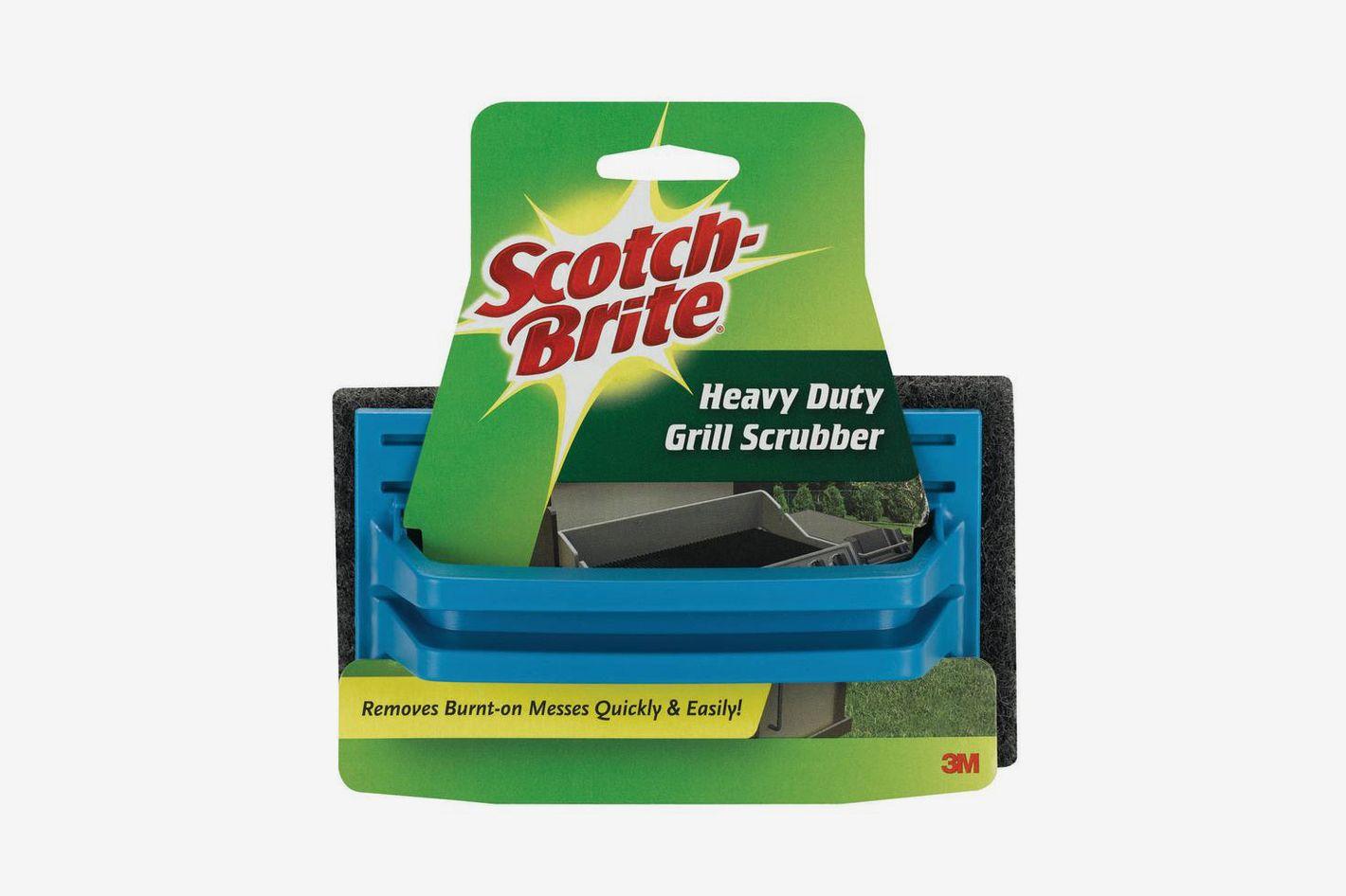 Scotch-Brite 7721 Grill Scrub, 6 in L x 4 in W, Synthetic Fiber, Brown