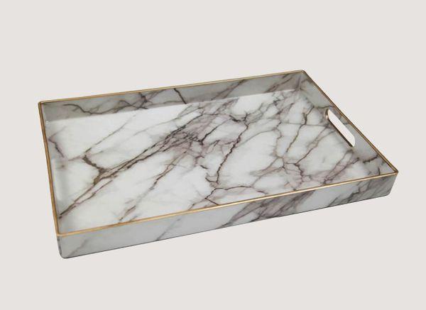 Dormify Marble Print Tray