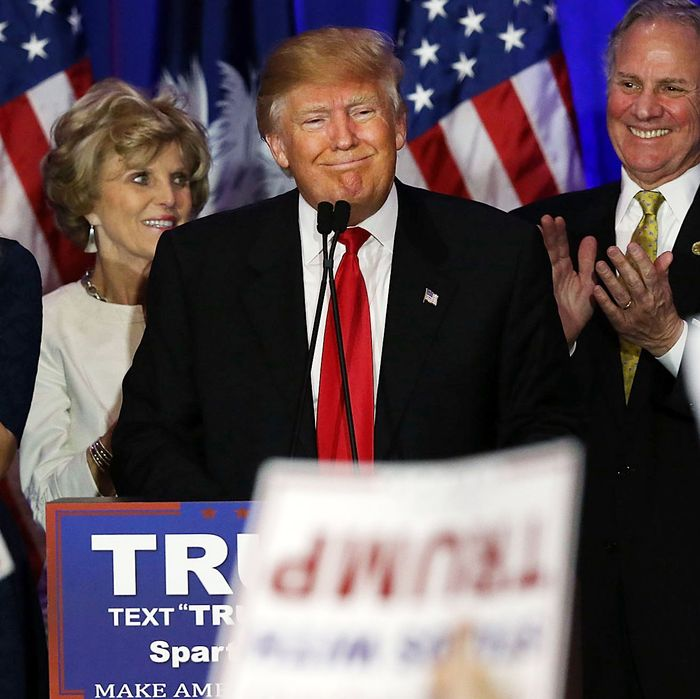 GOP Presidential Candidate Donald Trump Holds SC Primary Night Party In Spartanburg